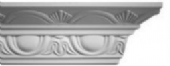 Modern Egg and Swag Plaster Cornice  60mm x 95mm